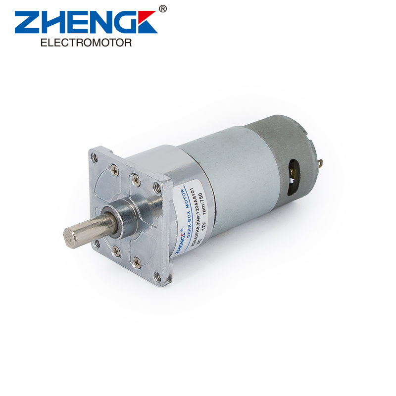 D42 Gearhead+555 Brushed DC Motor-CentricShaft-SquareFlange-ZGA42FH